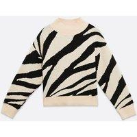 Zibi-London-Stone-Zebra-Print-Jumper-New-Look