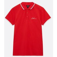 Boys Red Embroidered Logo Polo Top New Look