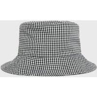 Black Gingham Bucket Hat New Look