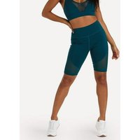 Wolf-and-Whistle-Teal-Mesh-Sports-Cycling-Shorts-New-Look