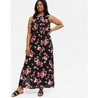 Mela Curves Black Floral Maxi Dress New Look