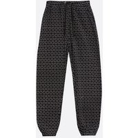 Cameo Rose Black Tile Print Cuffed Joggers New Look