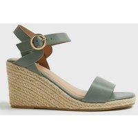 Wide Fit Khaki Twist Espadrille Wedge Sandals New Look Vegan