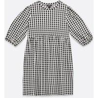 Maternity Black Check Smock Mini Dress New Look