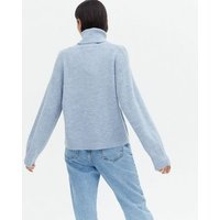 Pale Blue Roll Neck Jumper New Look