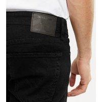 Men's Jack & Jones Black Dark Wash Slim Fit Jeans New Look