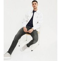Men's Jack & Jones Black Washed Skinny Jeans New Look