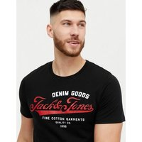 Men's Jack & Jones Black Short Sleeve Logo T-Shirt New Look