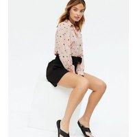 Petite Pink Leopard Print Long Sleeve Shirt New Look