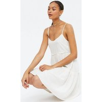 White Strappy Tiered Sundress New Look