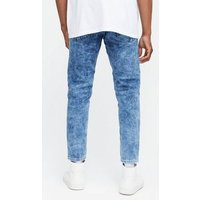 Men's Pale Blue Acid Wash Skinny Stretch Jeans New Look
