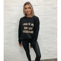 AX Paris Black Logo Day Off Sweatshirt New Look