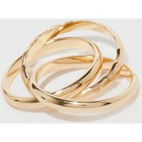 Gold Minimal Twist Ring New Look