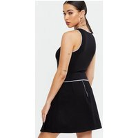 Black Ribbed Exposed Seam Vest New Look