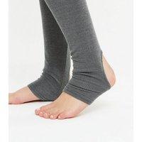 Gini London Grey Ribbed Seamless Leggings New Look