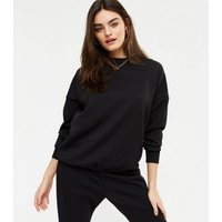 Gini London Black Quilted Jumper and Jogger Set New Look