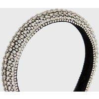 Little Mistress Silver Diamante Headband New Look