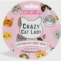 Grey Crazy Cat Lady Moisturising Lip Sheet Mask New Look