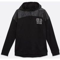 Men's Only & Sons Black Contrast Panel Logo Hoodie New Look