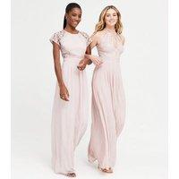 TFNC Mink Lace Open Back Maxi Dress New Look