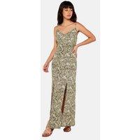 Apricot Green Paisley Split Hem Maxi Dress New Look