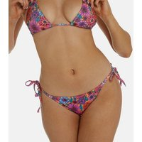 Wolf & Whistle Pink Floral Tie Side Bikini Bottoms New Look