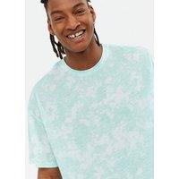 Men's Mint Green Tie Dye T-Shirt New Look