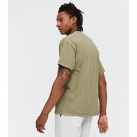 Men's Olive Overdyed San Francisco Logo T-Shirt New Look