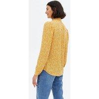 Mustard Animal Print Long Sleeve Shirt New Look
