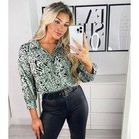 AX Paris Mint Green Animal Print Shirt New Look