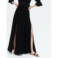 Black Split Hem Maxi Skirt New Look
