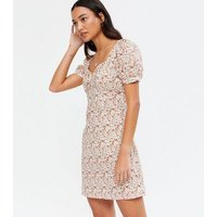 NA-KD White Ditsy Floral Bustier Mini Dress New Look