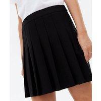 Petite Black Pleated Mini Tennis Skirt New Look