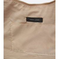 Cream Leather-Look Ring Front Slouch Tote Bag New Look