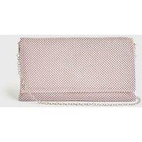 Pale Pink Diamanté Clutch Bag New Look