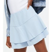 Girls Pale Blue Flippy Skort New Look