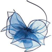 QUIZ Navy Glitter Floral Fascinator Headband New Look