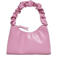 ONLY Pink Leather-Look Ruched Shoulder Bag New Look