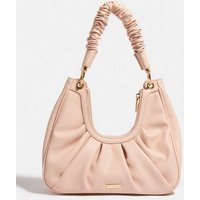 Skinnydip Pale Pink Leather-Look Ruched Shoulder Bag New Look