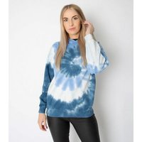 JUST YOUR OUTFIT Pale Blue Tie Dye Toggle Front Hoodie New Look