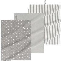 3 tea towels in grey