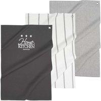 3 tricoloured tea towels