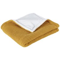 Baby blanket in caramel and white 77x77cm