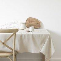 Beige Cotton Tablecloth 150x350