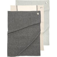Black, Grey and Taupe Tea Towels (x3)