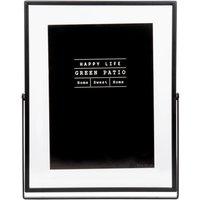 Black Metal and Glass Desk Frame 13x18