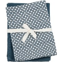 Blue and white cotton tea towels (x2)