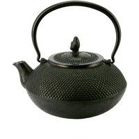 Cast iron teapot in black