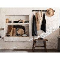 Charcoal grey cotton kitchen apron