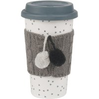 Earthenware Travel Mug with Star Print